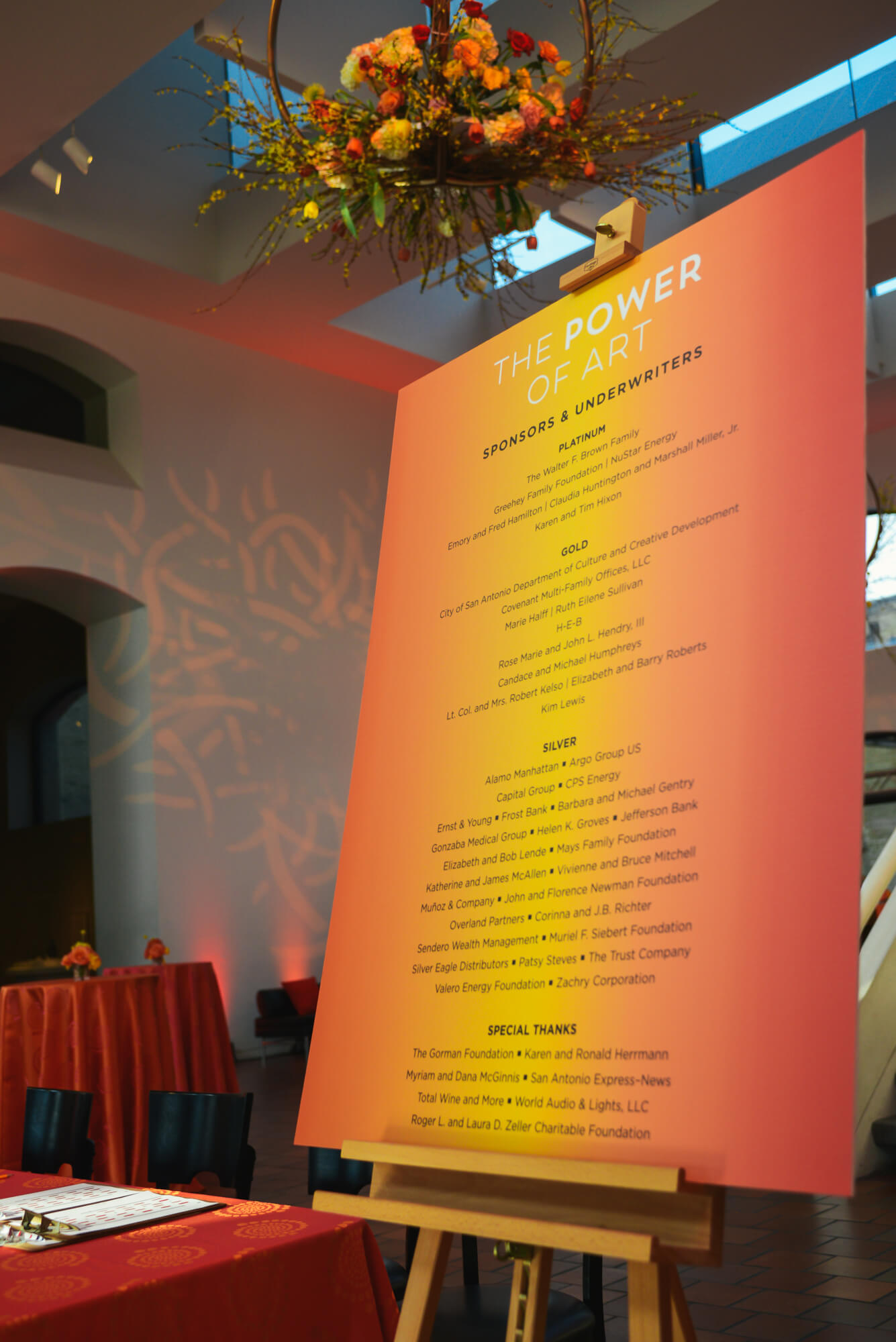 Details from the San Antonio Museum of Art Gala